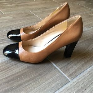 Franco Sarto Roller Leather Block Heel-Pumps